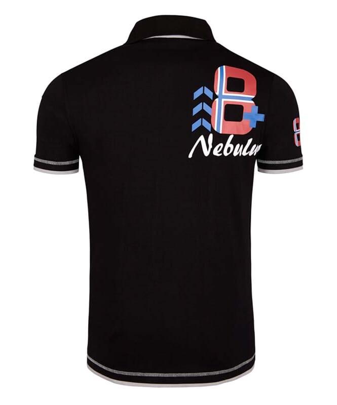 Polo-Shirt ORANGE Herren schwarz