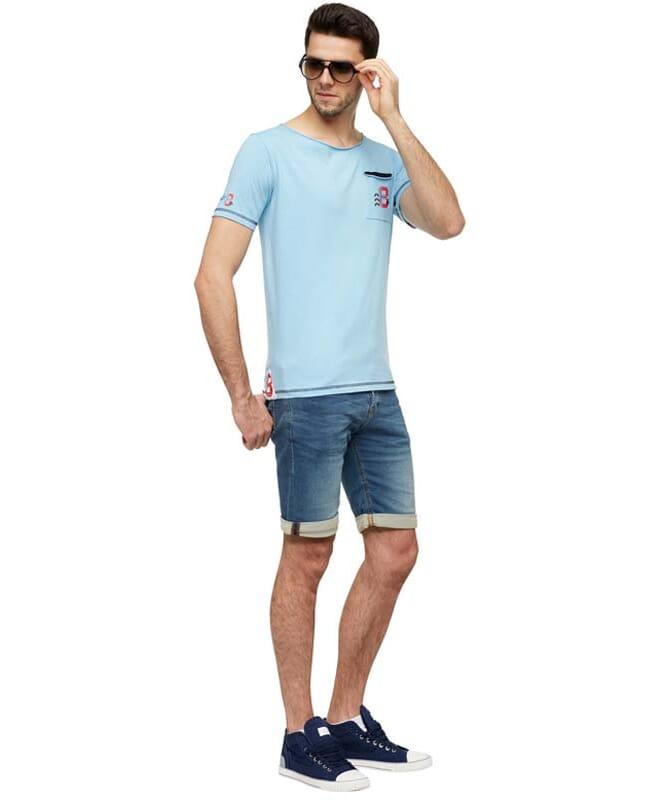 T-Shirt HOLM Herren hellblau