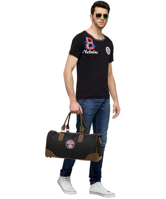 T-Shirt IVER Herren schwarz