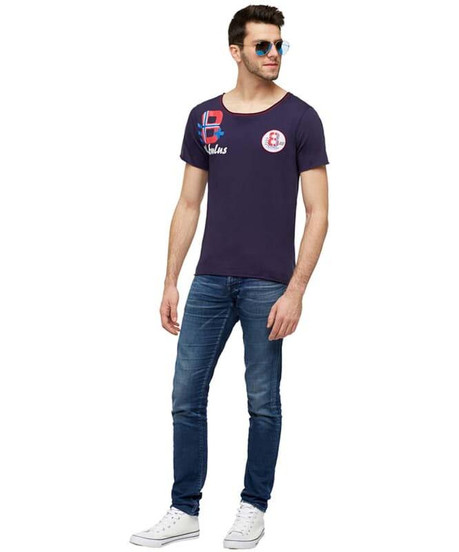 T-Shirt IVER Herren navy