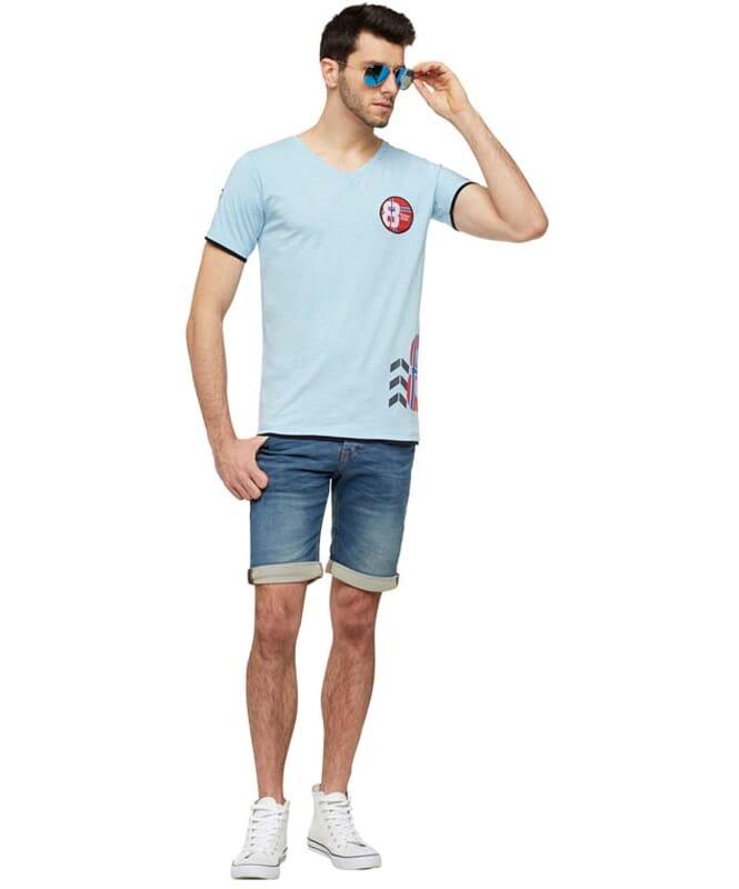 T-Shirt ENDRIT Herren hellblau