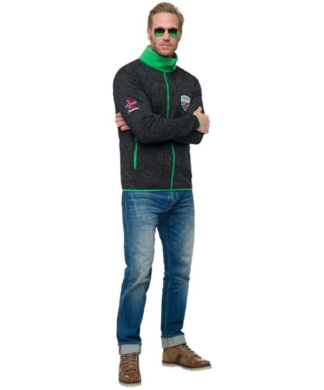 Fleecejacke VLADO Herren schwarz-grün