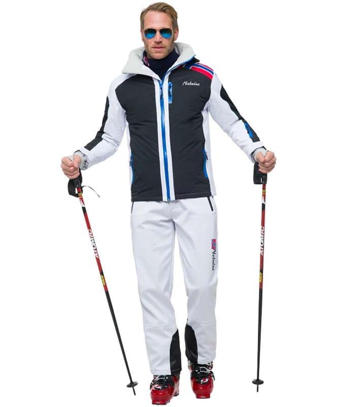 Skijacke LOKE Herren weiß