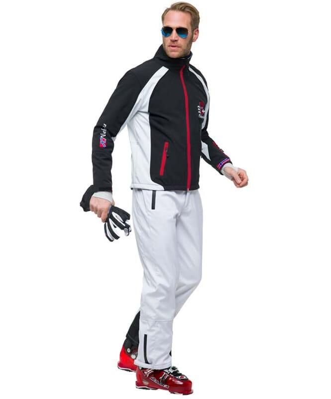 Softshell Skijacke VIGGO Herren schwarz-weiss