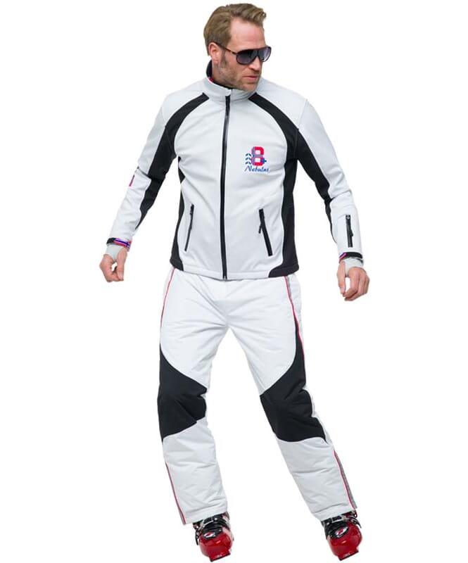 Softshell Skijacke VIGGO Herren weiß-schwarz
