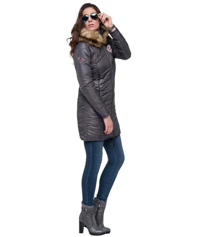 Mantel BROOKLYN Damen dunkelgrau