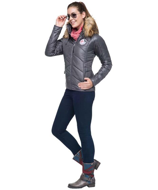 Winterjacket CLAIRE Women dunkelgrau
