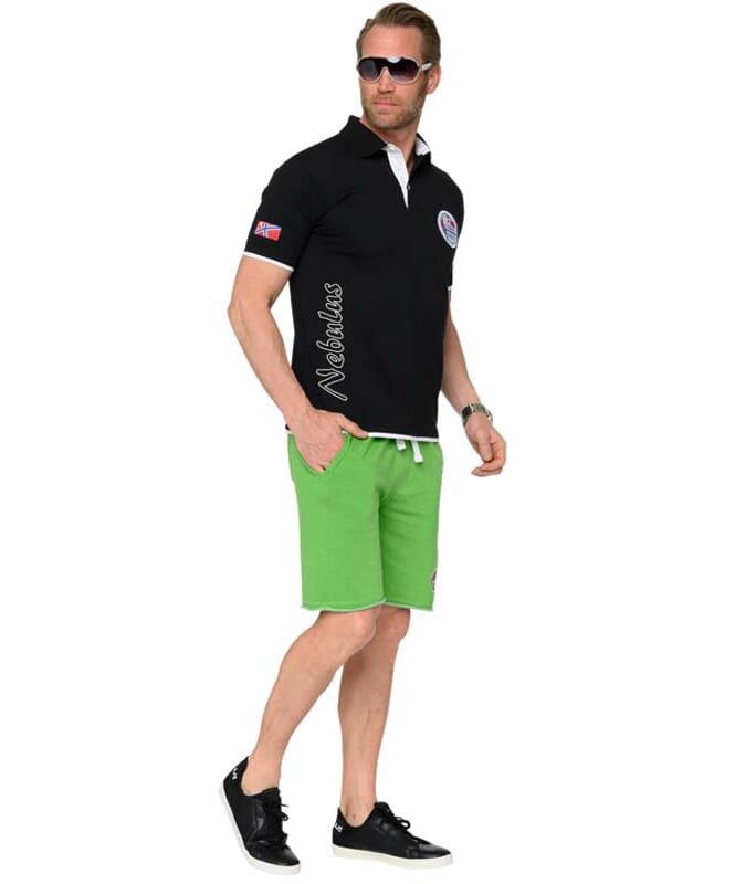 Poloshirt SHIP Herren schwarz-weiss