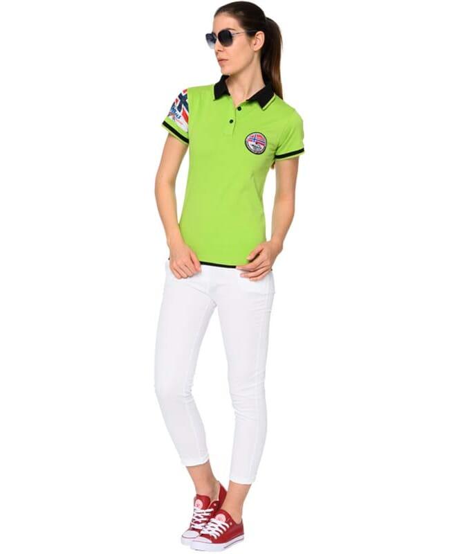 Poloshirt PARAS Damen green-black