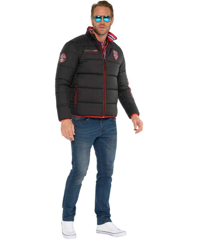 Winter Jacket EXODUS Men schwarz-rot