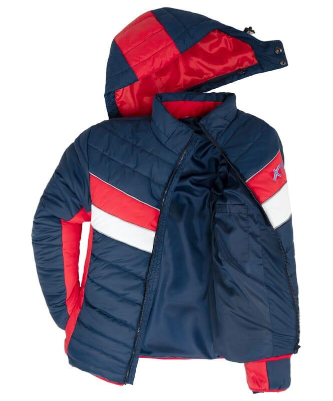 Winterjacke NATURAL Herren navy-rot