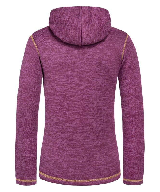 Fleecehoody JAKE Women purple-gelb