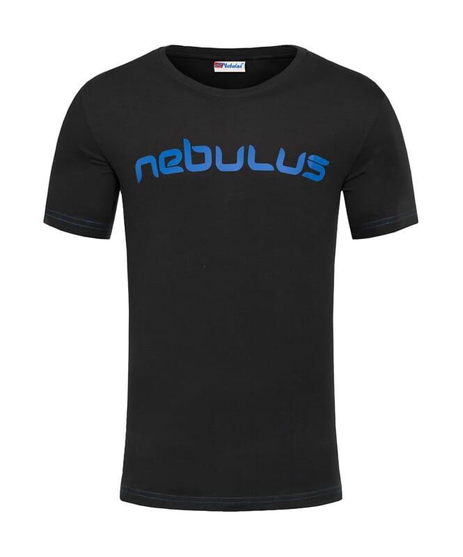 T-Shirt LEOS Herren schwarz-kobalt