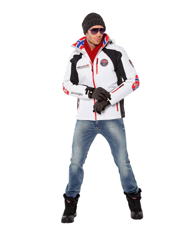 Skijacke MAESTRO SKI Herren weiß