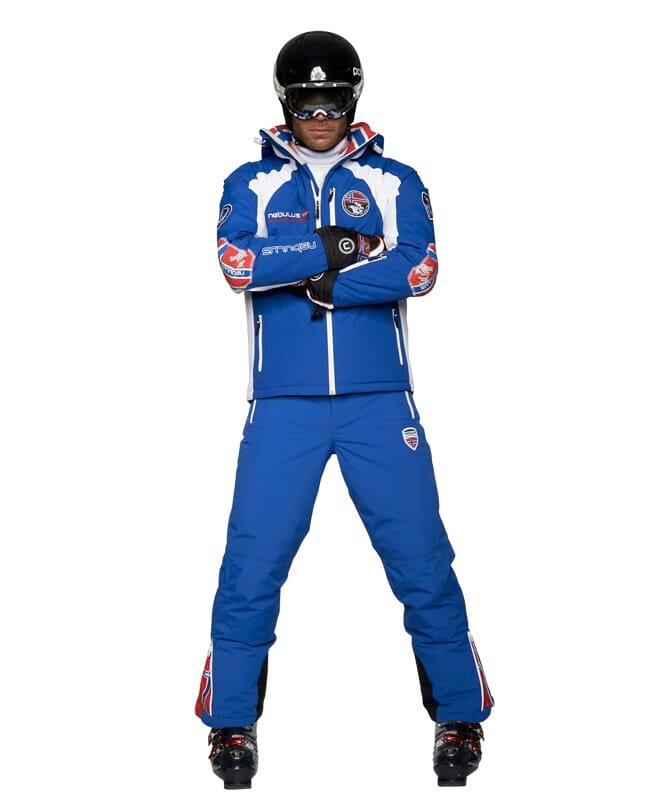 Skijacke MAESTRO SKI Herren blau-weiß