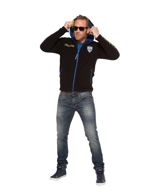 Veste polaire SVERHOOD Homme schwarz