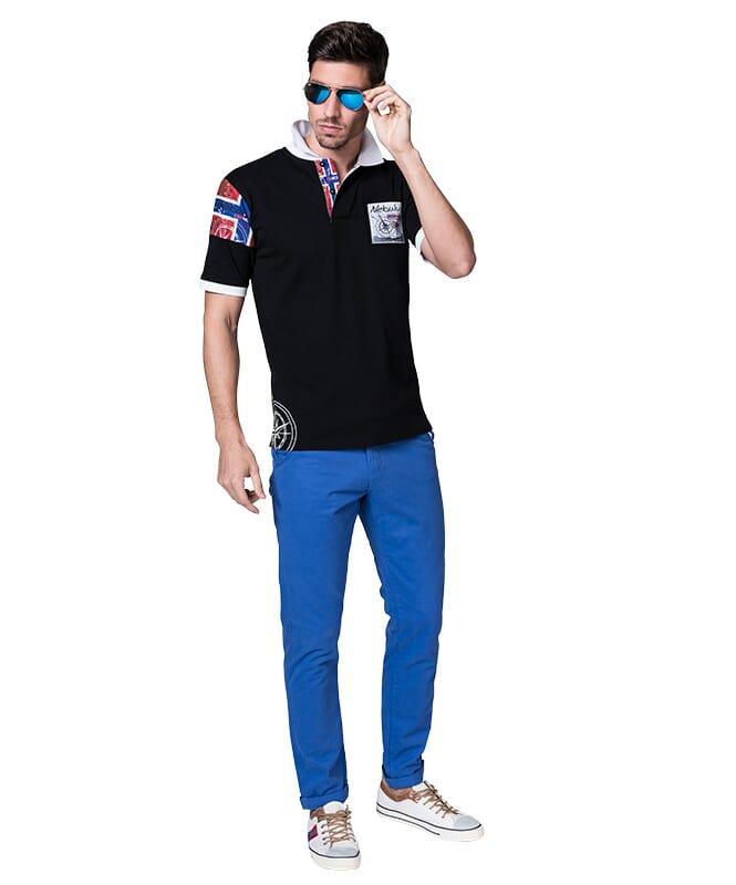 Poloshirt ARENDAL Herren schwarz