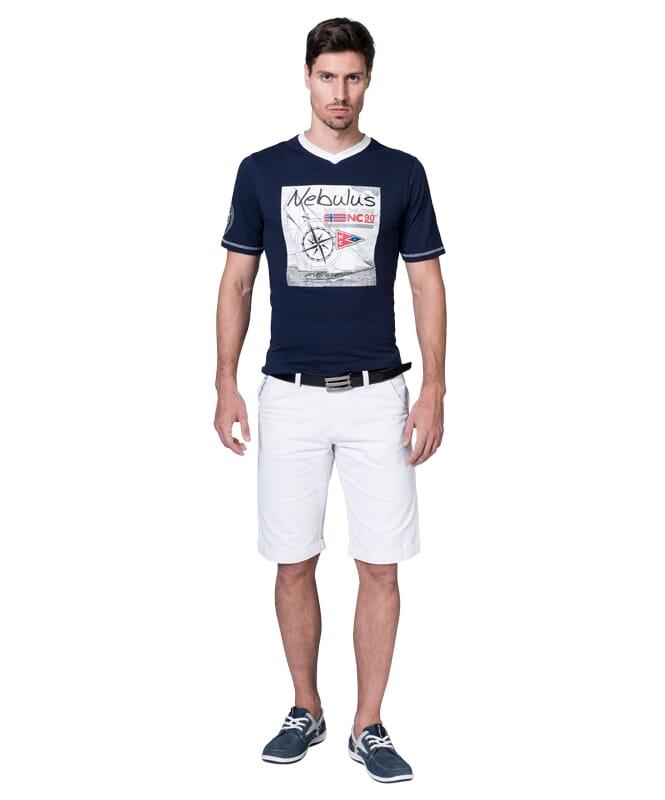 T-Shirt LINES Herren navy