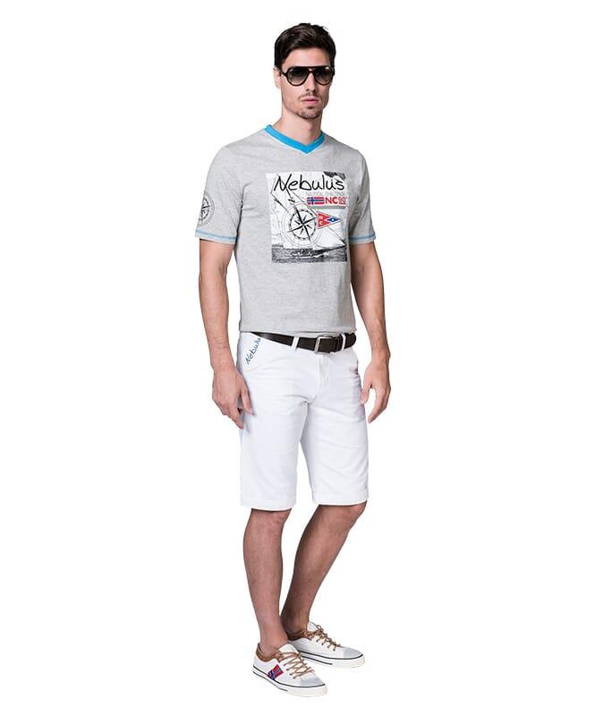 T-Shirt LINES Herren grau