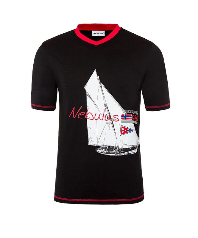 T-Shirt AHOI Herren schwarz