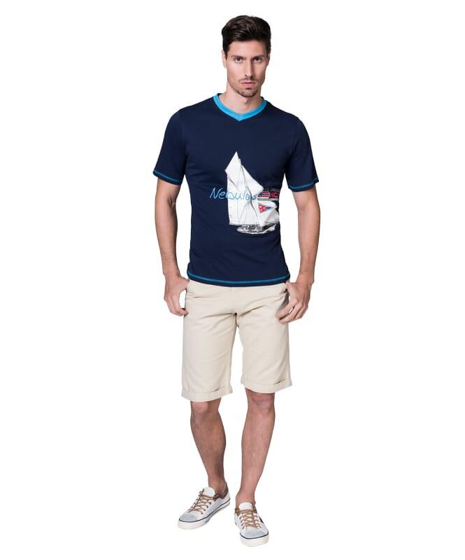 T-Shirt AHOI Herren navy