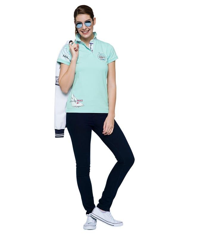 Poloshirt DEEP BLUE Damen icy-morn