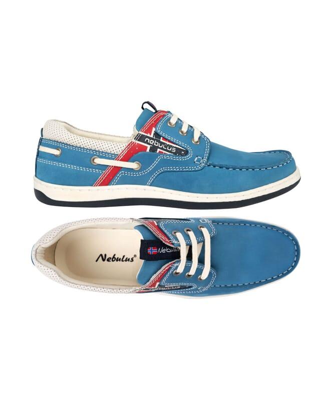 Leder-Bootsschuhe RIVA blue_suede