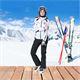 Damen Skijacke SCHWEDEN SKI weiss-schwarz
