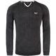 19V69 Sweater V-neck Men schwarz