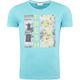 Summerfresh T-Shirt PARADISE hellblau