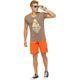 Summerfresh T-Shirt FLORIS hellbraun