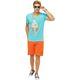Summerfresh T-Shirt FLORIS hellblau