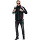 Softshell ski jacket VIGGO Men schwarz-weiß