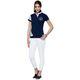 Damen Baumwoll Polo-Shirt DEEP BLUE navy