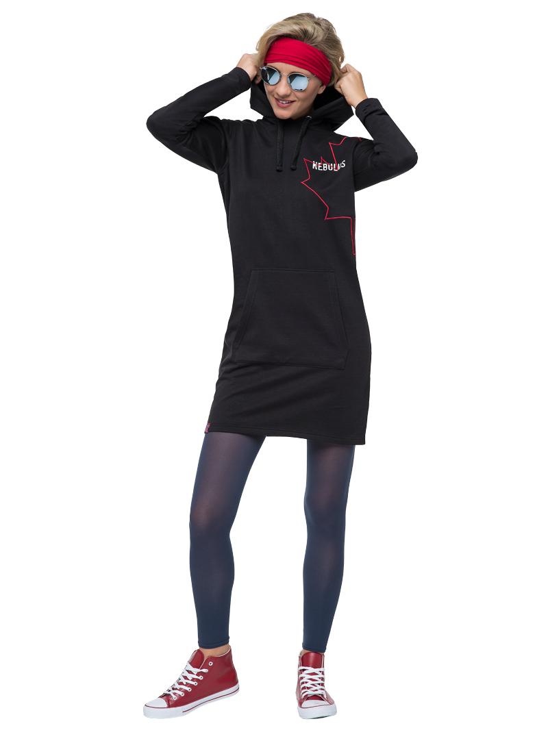 online store aea86 d8029 Details zu NEBULUS Hoody Kleid MILIA, Hoody, Kleid, Damen, Kapuze,  Lifestyle (T448)