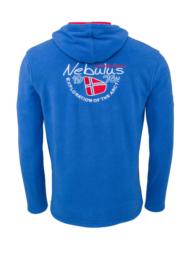 Nebulus Herren Fleecepulli Skandinavia Pullover mit Logo Patches