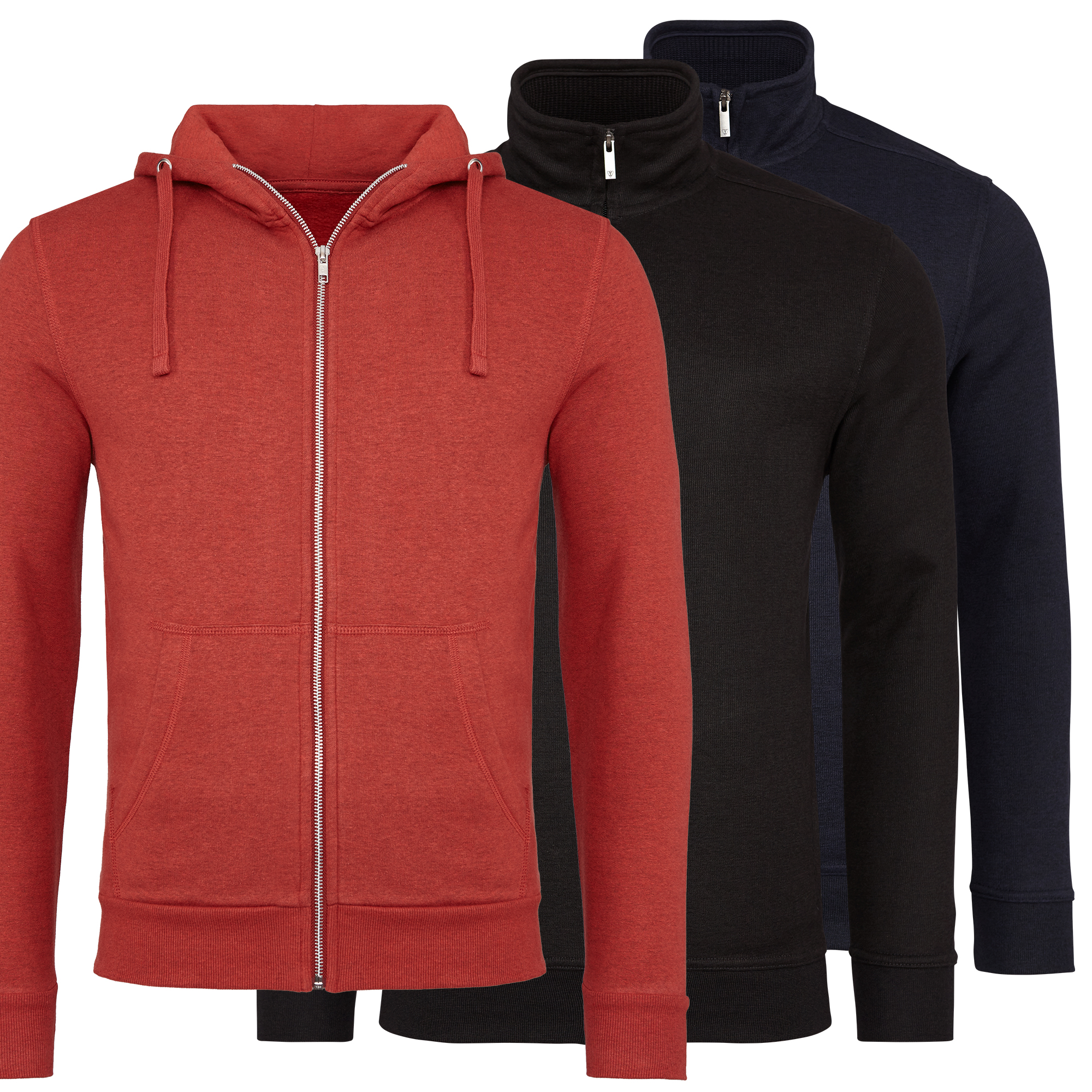 3er-Pack-Strickjacken-Cardigan-Jacke-Herren-verschiedene-Kombinationen